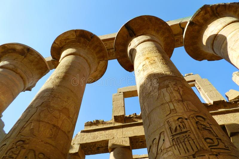 Luxor, tempio di Karnak nell'Egitto fotografie stock