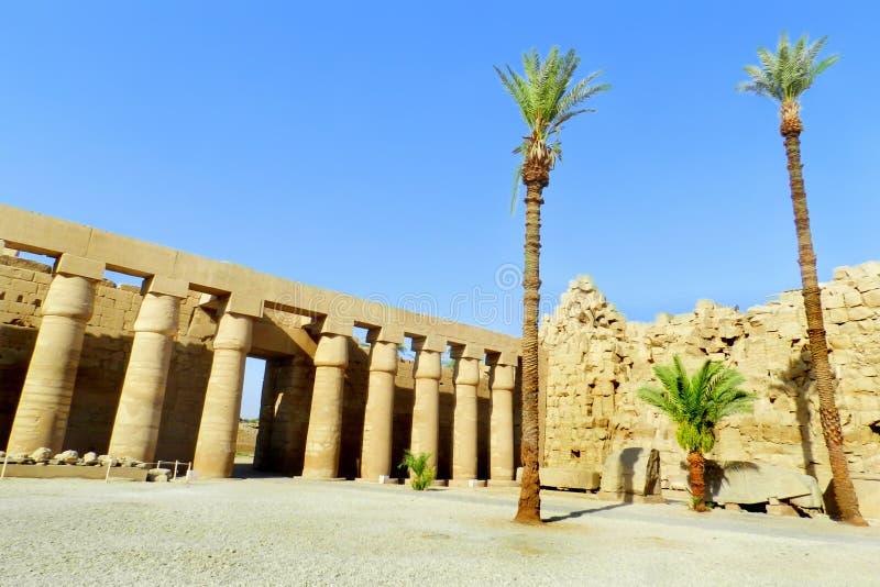 Luxor, tempio di Karnak nell'Egitto immagine stock libera da diritti