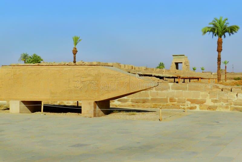 Luxor, tempio di Karnak nell'Egitto immagini stock libere da diritti