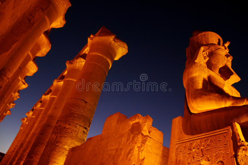 Luxor temple. Court of king Rmases II royalty free stock photos