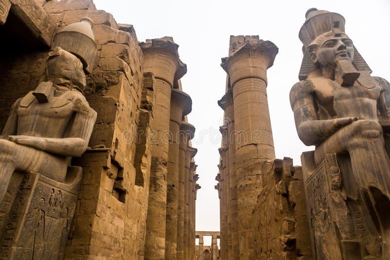 Luxor Temple, Karnak, Египет стоковые фотографии rf