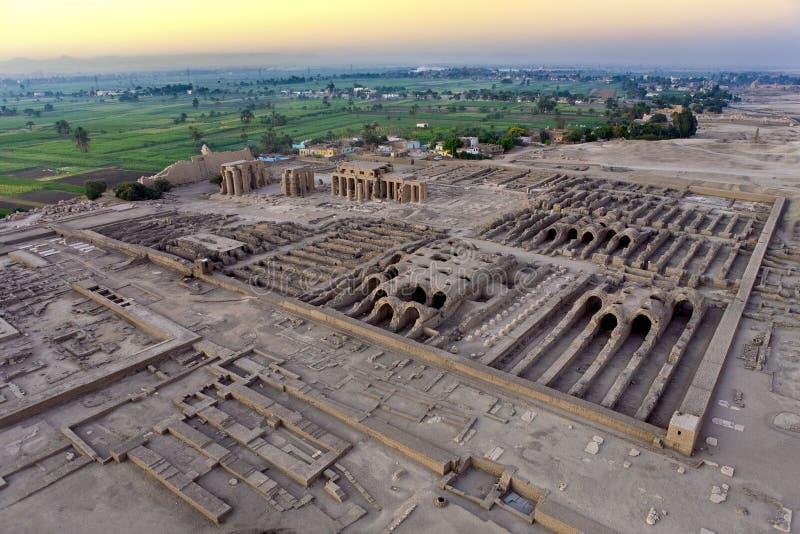 Luxor Zachodni bank above zdjęcie royalty free