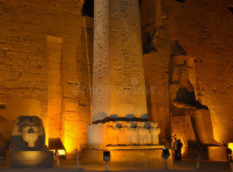 Luxortempel bij de nacht, Egypte stock afbeelding