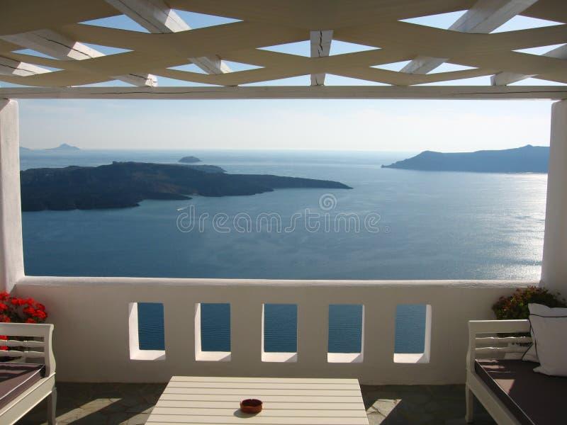 Luxueus balkon stock foto's