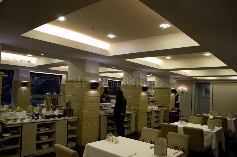 Luxueus Chinees restaurant in Taipeh royalty-vrije stock fotografie