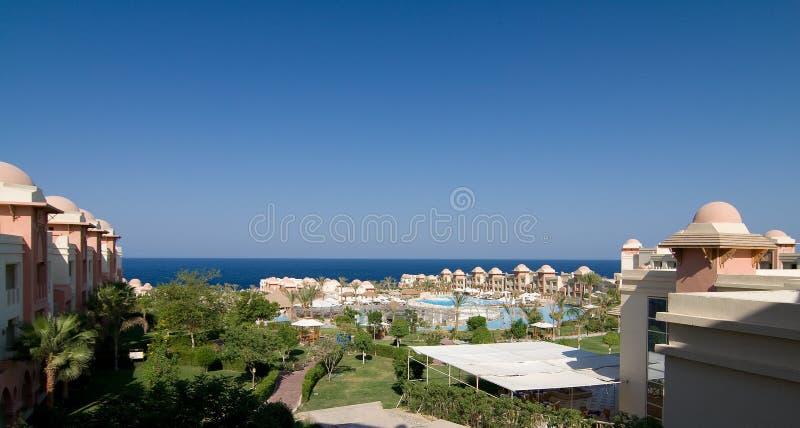 Luxueus hotel stock afbeelding