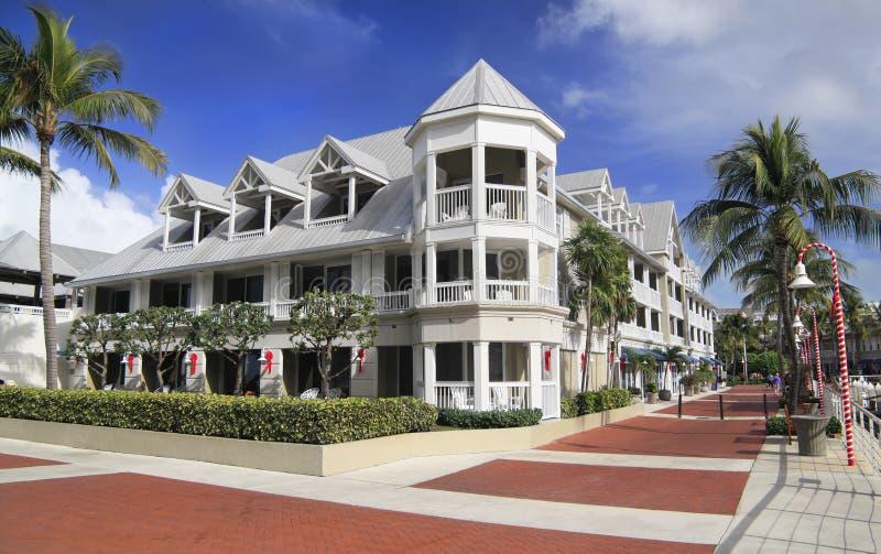 Luxueus hotel in Key West, Kerstmistijd, Florida royalty-vrije stock fotografie