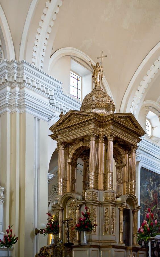 Luxueus kathedraalbinnenland stock foto's