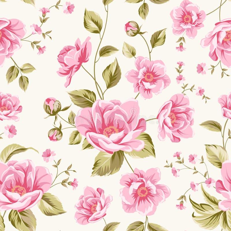 Luxueus pioenpatroon royalty-vrije illustratie