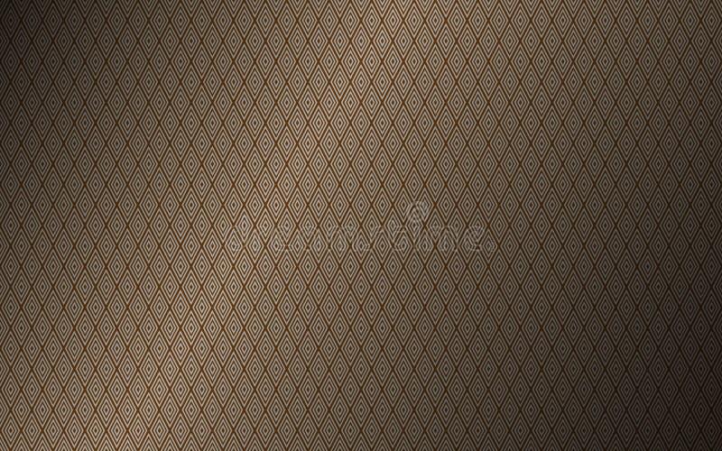 Luxueus uitstekend naadloos patroon, bruine abstracte luxeachtergrond royalty-vrije illustratie