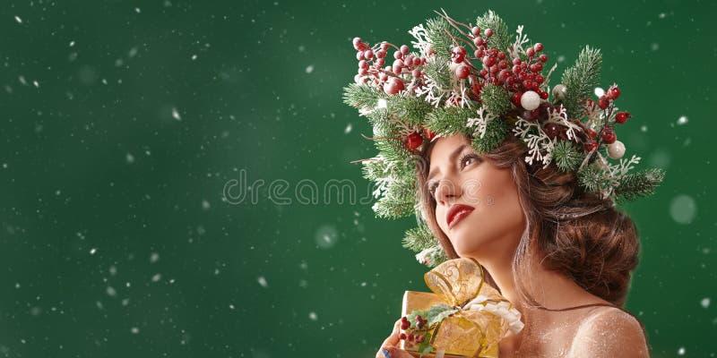 Luxueuse beauté hivernale image stock