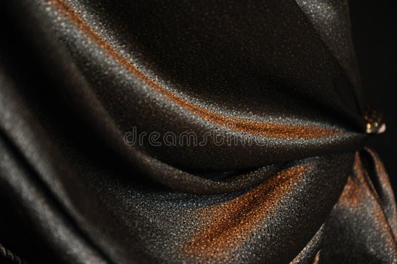 Luxueux drapez Plan rapproché Texture de tissu brillant photo stock