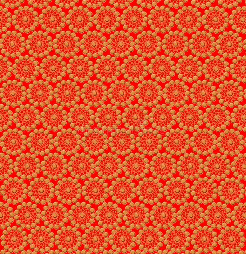 Luxueuze abstracte gele patronen op de sinaasappel royalty-vrije illustratie