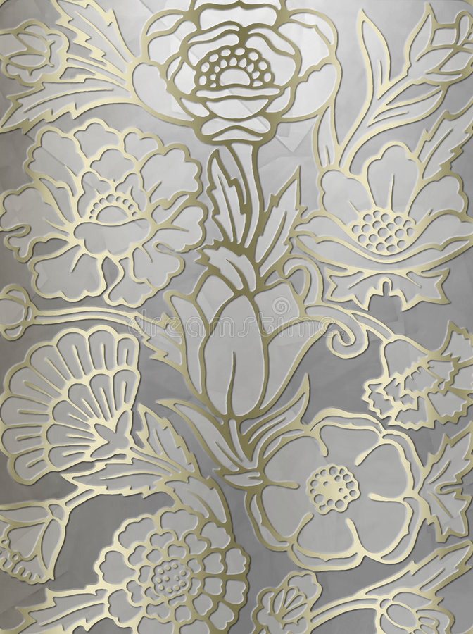 Luxueuze bloemenaf:drukken achtergrond stock illustratie