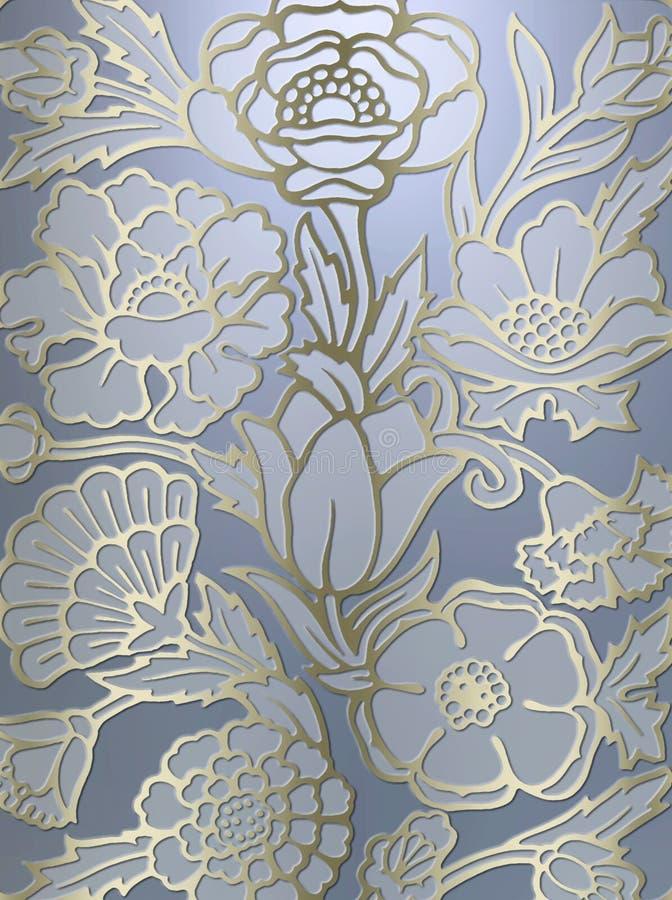 Luxueuze bloemenaf:drukken achtergrond vector illustratie