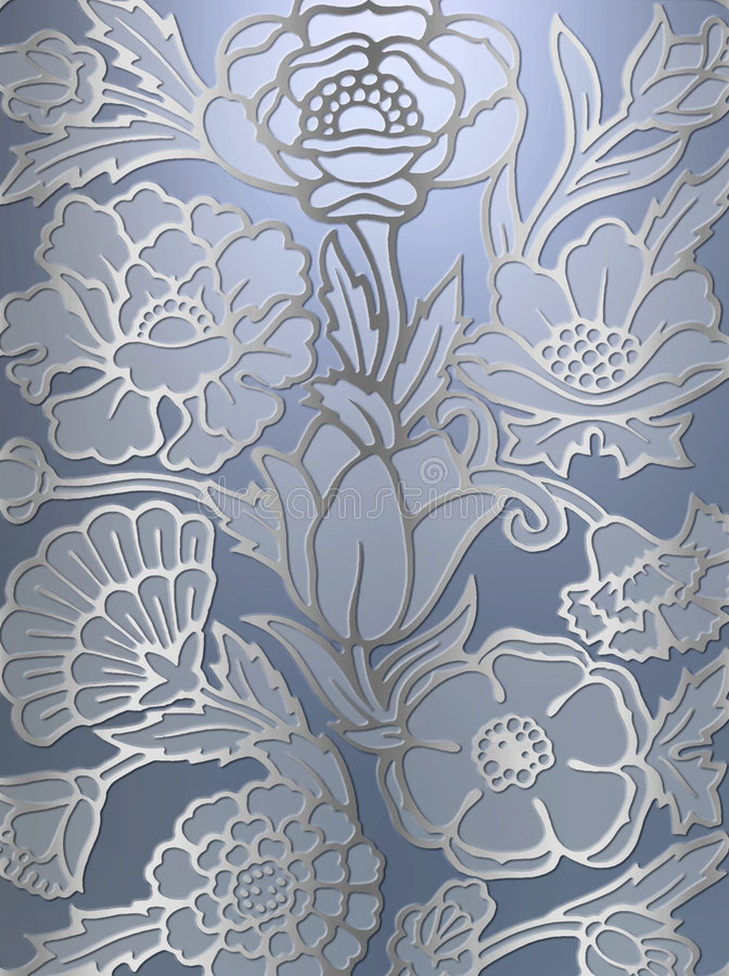 Luxueuze bloemenaf:drukken achtergrond royalty-vrije illustratie