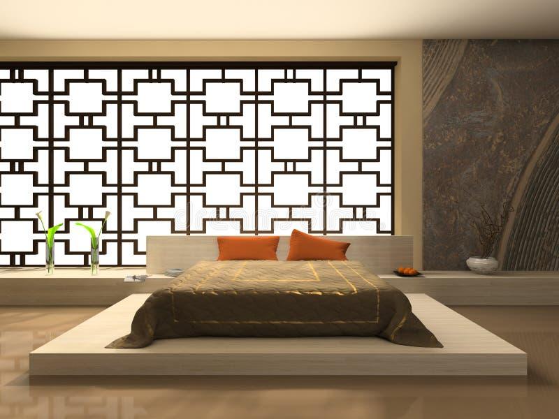 Luxueuze slaapkamer stock illustratie