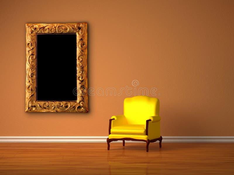 Luxueuze stoel met modern frame stock illustratie
