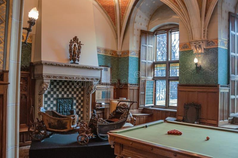 Luxueuze woonkamer in DE Haar Castle, dichtbij Utrecht stock fotografie