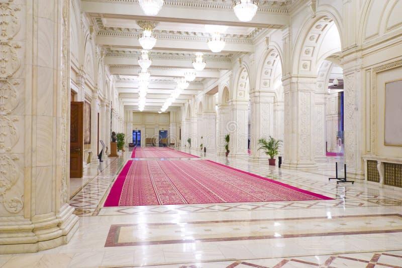 Luxuriöser Innenraum des Palastes lizenzfreie stockfotografie