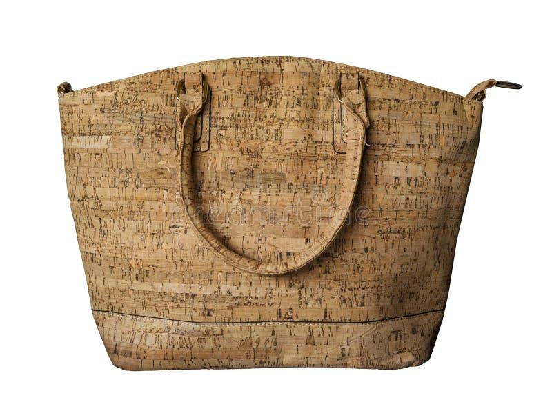 Luxuriöser Korkenhandtaschengeldbeutel stockbild