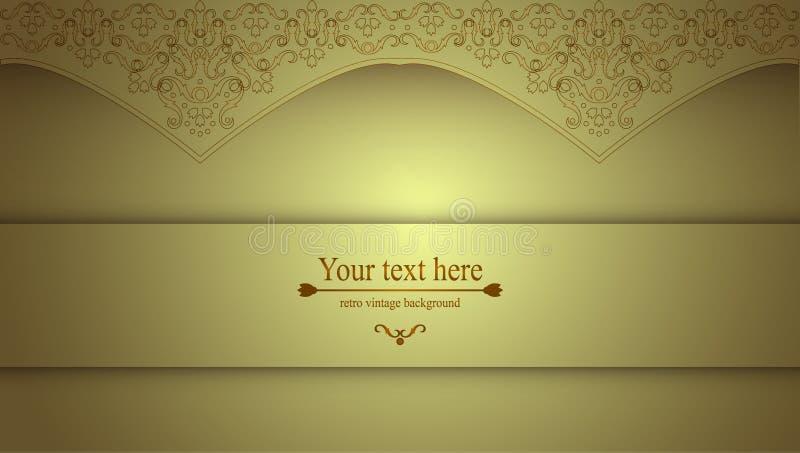 Luxuriöser viktorianischer Retro- Hintergrund, Muster mit Locken für Ihre Kreativität, eine Schablone für einen Flieger oder Einl lizenzfreie abbildung