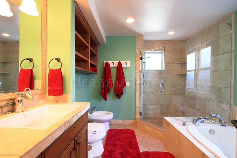 Luxuriöses modernes Badezimmer stockfotos