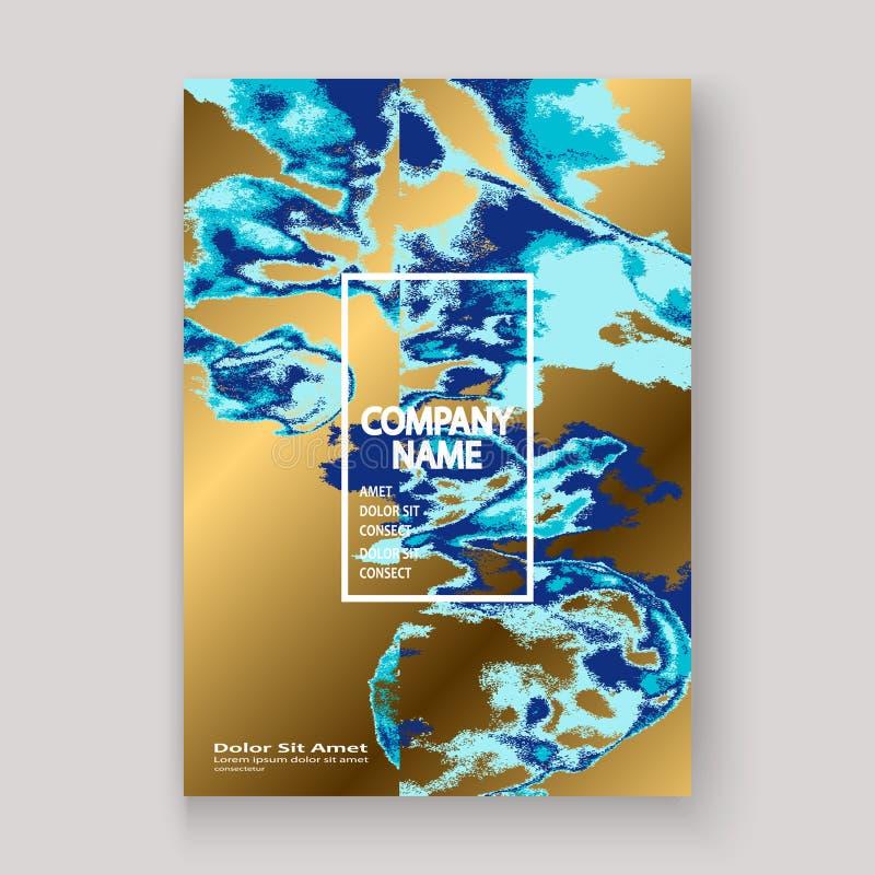 Luxuri?se Beschaffenheitsfarbe des Marineblau-Marmors k?nstlerisch, Heiratseinladungsentwurf Dekorative Spritzenfl?ssigkeit auf g lizenzfreie abbildung