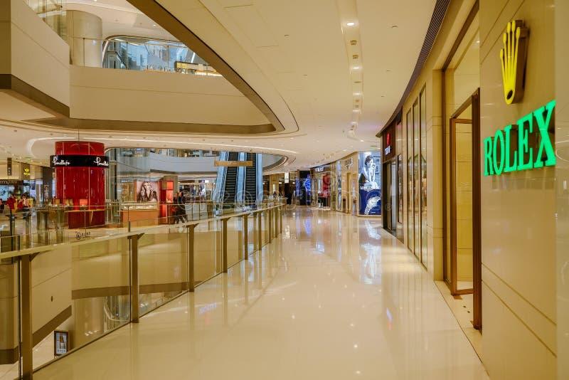 Luxuries shops at IFS plaza,Chengdu. China stock image