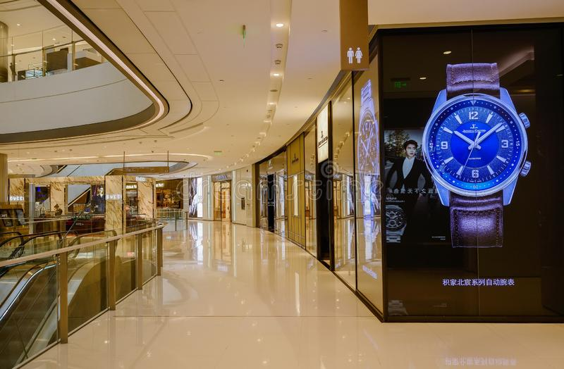 Luxuries shops in IFS plaza,Chengdu. China royalty free stock photos