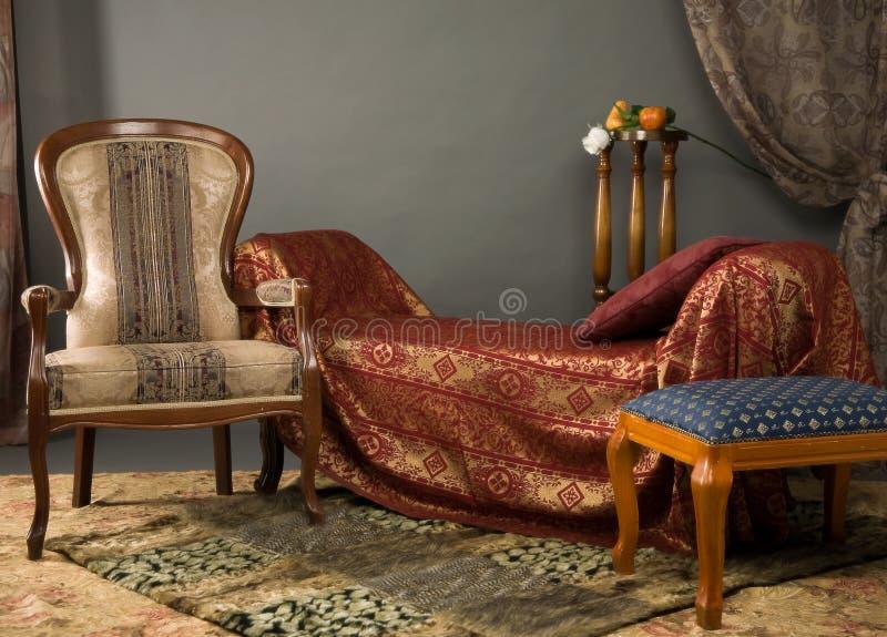 luxurios интерьера будуара стоковые изображения rf