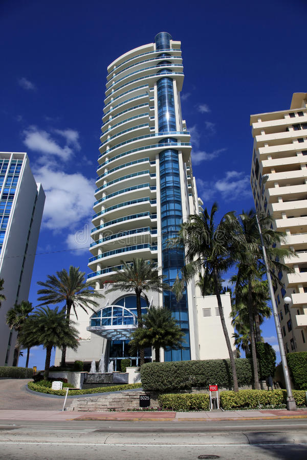 Luxurious apartment building in Miami, Florida. stock image