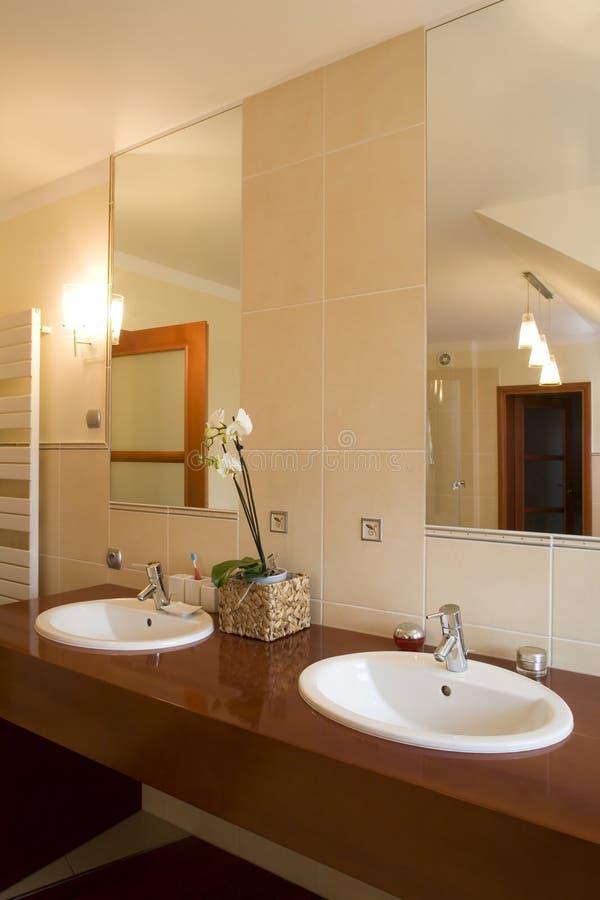 Luxurious bathroom interior stock image