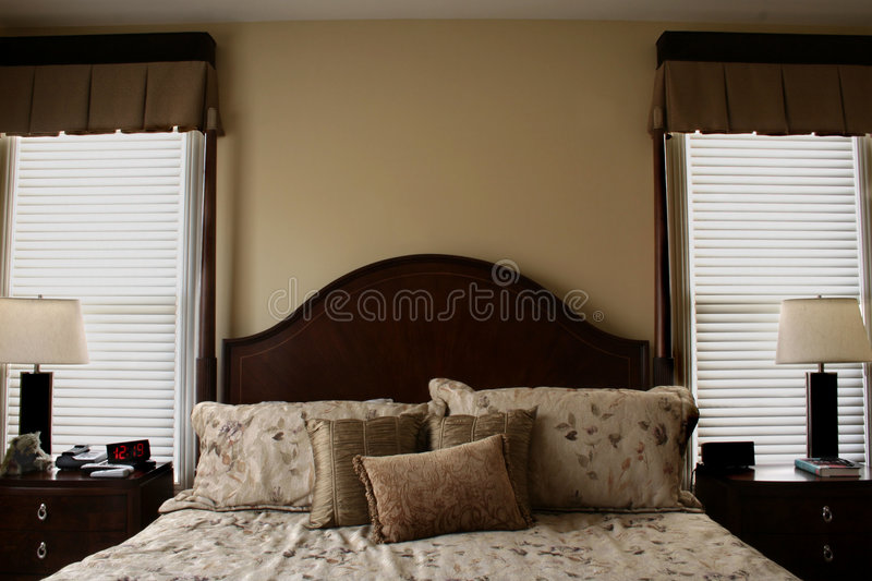 Luxurious Bed royalty free stock image