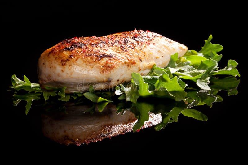Luxurious chicken steak. stock photos