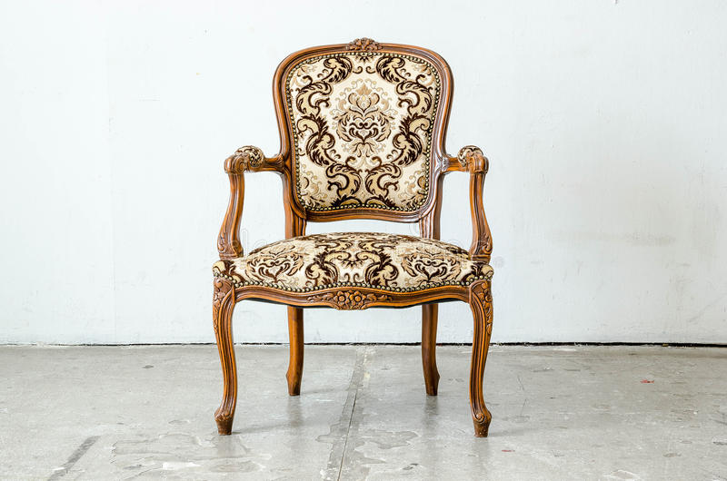 Luxurious classical vintage armchair royalty free stock photography