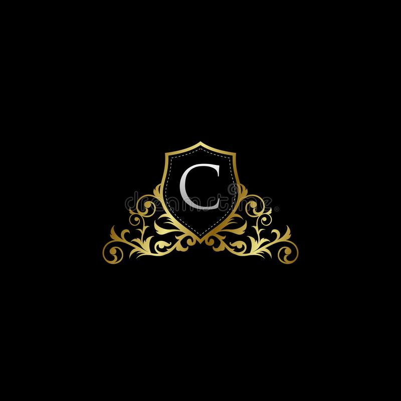 Luxurious Classy Letter C Logo Vector. Suitable with classy and vintage theme vector illustration