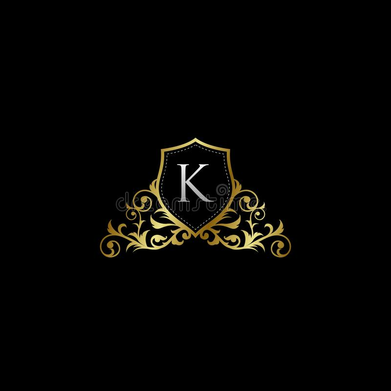 Luxurious Classy Letter K Logo Vector. Suitable with classy and vintage theme vector illustration
