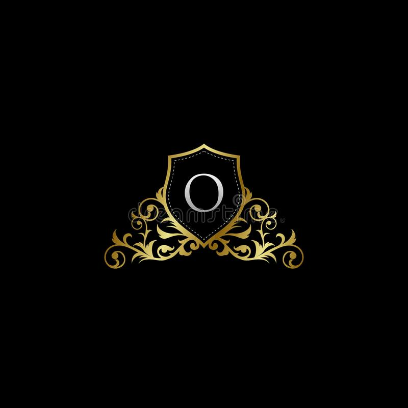 Luxurious Classy Letter O Logo Vector. Suitable with classy and vintage theme royalty free illustration