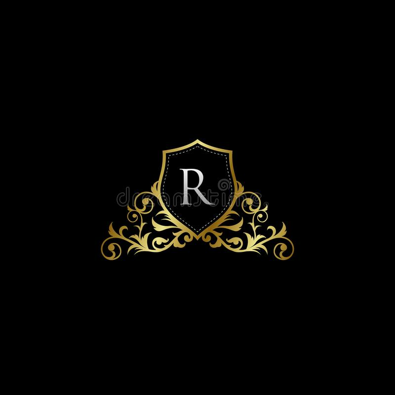 Luxurious Classy Letter R Logo Vector. Suitable with classy and vintage theme vector illustration