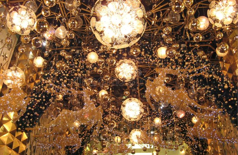 Luxurious decorative lamps stock image
