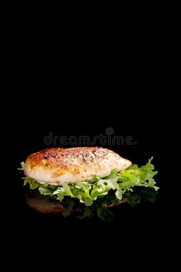 Luxurious delicious chicken. royalty free stock photos
