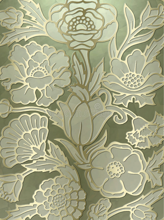 Luxurious floral print background royalty free stock photography