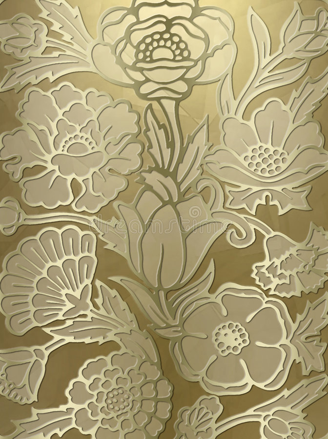Luxurious floral print background stock image