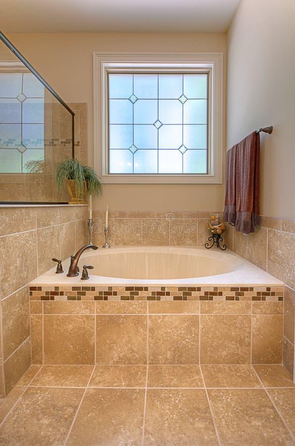 Download Luxurious Garden Tub stock photo. Image of travertine - 26614652
