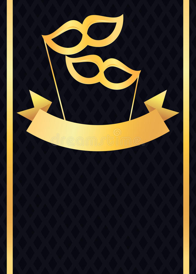 Luxurious golden party flyer and poster stock illustration