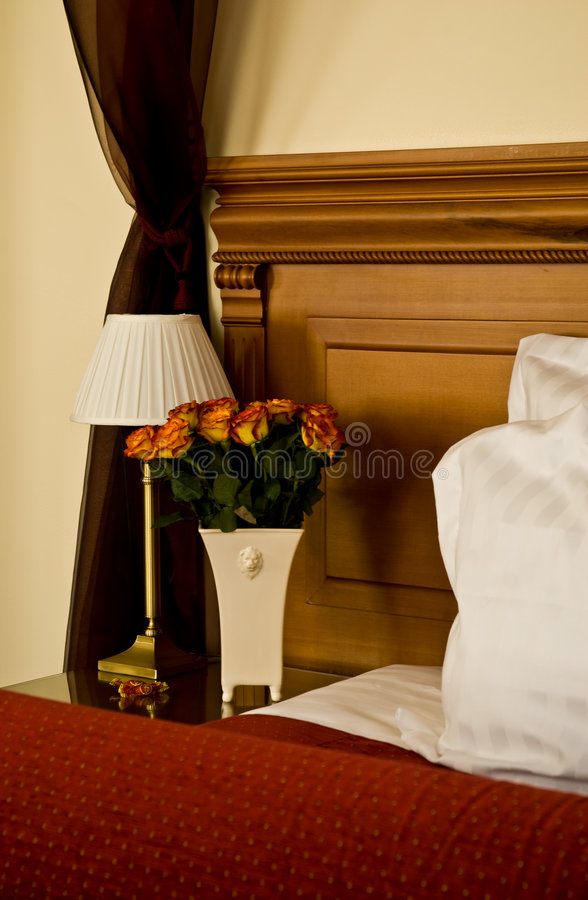 Luxurious hotel room interior royalty free stock images