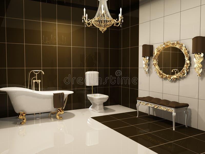 Luxurious interior of bathroom royalty free stock image