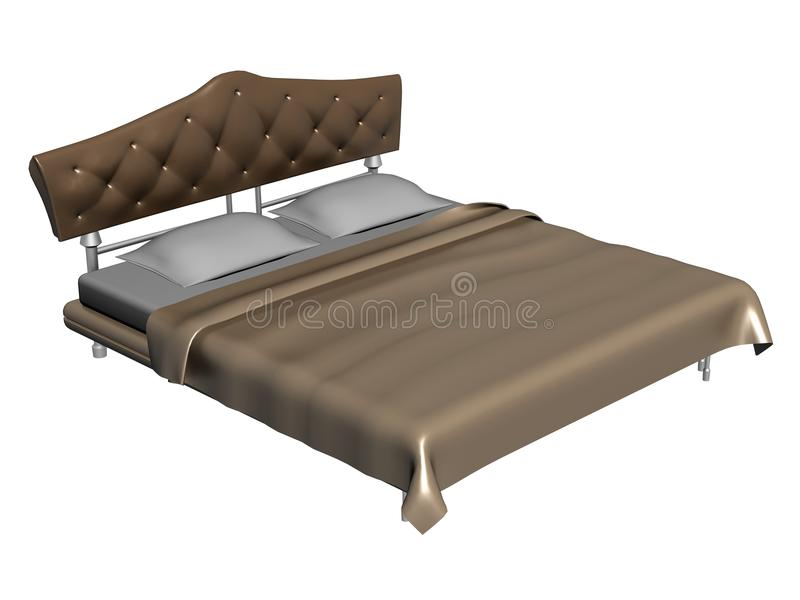 Download Luxurious king size bed stock illustration. Illustration of duvet - 13101561