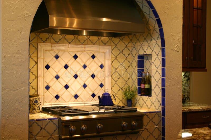 Luxurious kitchen range royalty free stock photos